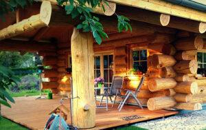 Naturstammhaus als Ferienhaus